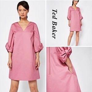 EUC🖤TED BAKER LONDON Bow Sleeve Dress